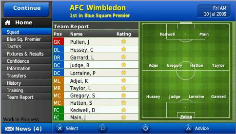 Football Manager 2010 Handheld