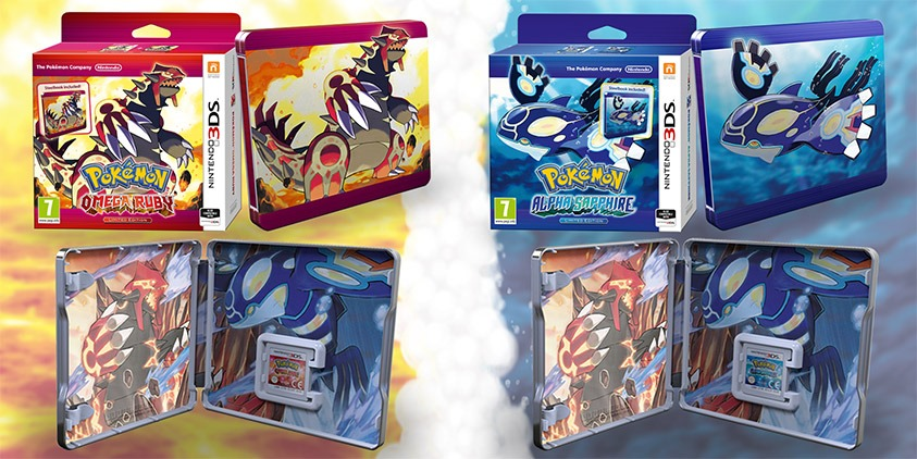 Annunciate le limited steelbook edition di Pokémon Ruby e Alpha