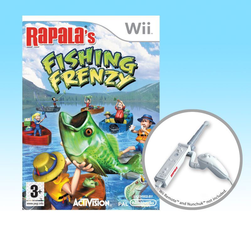Games wii rapalas fishing frenzy rod bundle with free for Wii fishing games