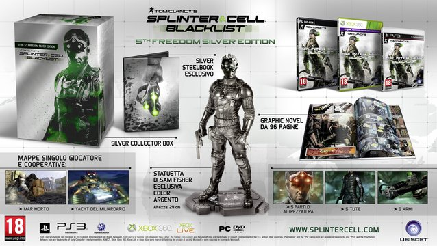 Annunciate tre edizioni speciali per Splinter Cell: Blacklist
